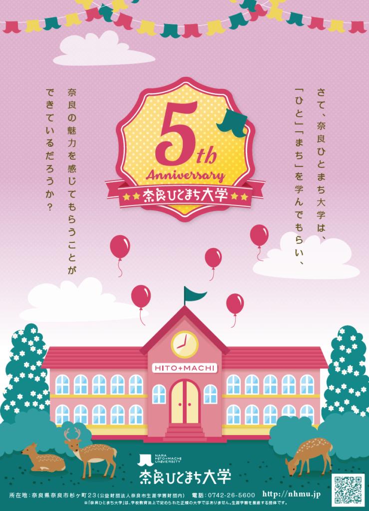 奈良ひとまち大学5周年記念ポスター