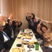 奈良市生涯学習財団の打ち上げにて