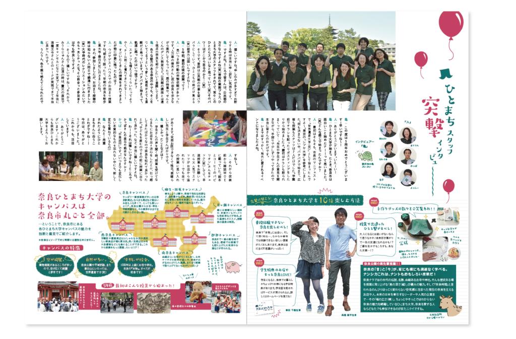 奈良ひとまち大学さん5周年記念パンフレット